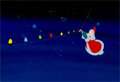 Animation Art:Production Cel, National Lampoon's Christmas Vacation Santa Claus Opening Titles Production Cel, Drawing, and Background Group (Warner... (Total: 3 Items)