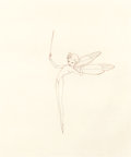 Animation Art:Production Drawing, Fantasia Dew Drop Fairy Production Drawing (Walt Disney,1940)....