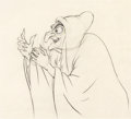 Animation Art:Production Drawing, Snow White and the Seven Dwarfs Old Hag Production Drawing (Walt Disney, 1937)....