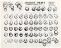 animation art:Model Sheet, Pinocchio Jiminy Cricket Model Sheet Group (Walt Disney,1940).... (Total: 8 Items)