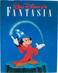 Animation Art:Poster, Walt Disney's Fantasia Book with Disney Studio AnimationArtists' Signatures (Abradale/Abrams, 1987).... (Total: 2 Items)