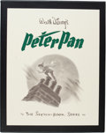 Animation Art:Poster, Peter Pan: The Sketchbook Series Limited Edition Book Signed by Disney Studio Animation Artists 1,957/2,500 (Applewood... (Total: 2 Items)