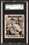 "Baseball Cards:Singles (1940-1949), 1948 Swell Lou Gehrig ""Great Slugging!"" #14 SGC 30 Good 2...."