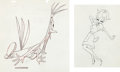 Animation Art:Production Drawing, The Hick Chick Clem and Nurse Production Drawing (MGM,1946).... (Total: 2 Items)