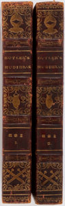 Books:Literature Pre-1900, Samuel Butler. Hudibras, a Poem. Thomas M'Lean, 1819. In twovolumes. Light toning with some shelfwear. Very goo... (Total: 2Items)