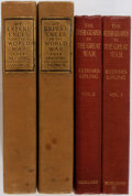 Books:World History, [First World War]. Group of Two Works on World War I by Gen. John Pershing and Rudyard Kipling. Various publishers, 1923-193... (Total: 4 Items)