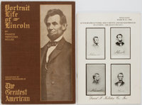 [Abraham Lincoln]. Group of Two Books on Abraham Lincoln. Various publishers, 1910-1982. Francis T. Miller's Portr