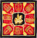 "Luxury Accessories:Accessories, Hermes Gold, Red & Black ""Les Muserolles,"" by ChristianeVauzelles Silk Scarf. ..."