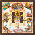"Luxury Accessories:Accessories, Hermes Brown & Yellow ""New Orleans Creole Jazz,"" by LoïcDubigeon Silk Scarf. ..."