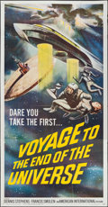"Movie Posters:Science Fiction, Voyage to the End of the Universe (American International, 1964). Three Sheet (41"" X 79""). Science Fiction.. ..."