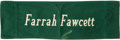 "Movie/TV Memorabilia:Memorabilia, A Farrah Fawcett Backrest Signed by Robert Duvall from ""TheApostle.""..."