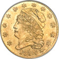 Early Half Eagles, 1818 $5 5D Over 50 MS65 PCGS. BD-3, R.5....
