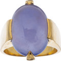 Estate Jewelry:Rings, Chalcedony, Gold Ring, Gump's . ...