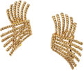 Estate Jewelry:Earrings, Gold Earrings, Jean Schlumberger for Tiffany & Co.. ...