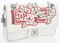 Luxury Accessories:Bags, Chanel Sport Collection Red & White Fabric Camelia Medium FlapBag with Silver Hardware. ...