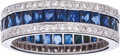 Estate Jewelry:Rings, Sapphire, Diamond, White Gold Eternity Band. ...