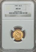 Liberty Quarter Eagles: , 1907 $2 1/2 MS64 NGC. NGC Census: (2061/1536). PCGS Population(2231/1520). Mintage: 336,200. Numismedia Wsl. Price for pro...