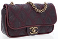 Luxury Accessories:Bags, Chanel Oxblood Purple Lambskin Leather Small Flap Bag with BrushedGold Hardware. ...