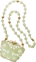 Estate Jewelry:Necklaces, Jadeite Jade, Gold Necklace, Ming's. ...