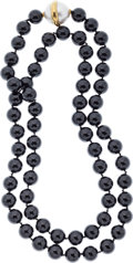 Estate Jewelry:Necklaces, Black Onyx, Mabe Pearl, Gold Necklace, Paloma Picasso for Tiffany& Co.. ...