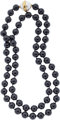Black Onyx, Mabe Pearl, Gold Necklace, Paloma Picasso for Tiffany & Co. The necklace is composed of black onyx b...