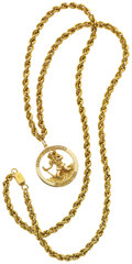 Estate Jewelry:Necklaces, Gold Pendant Necklace. ...