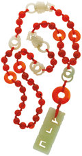Estate Jewelry:Necklaces, Jade, Carnelian Necklace. ...