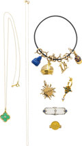 Estate Jewelry:Lots, Diamond, Multi-Stone, Cultured Pearl, Enamel, Gold Jewelry. ...