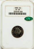 1893 5C PR65 NGC. CAC. NGC Census: (106/47). PCGS Population (89/26). Mintage: 2,195. Numismedia Wsl. Price for problem...