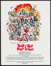 "Rock 'n' Roll High School (New World, 1979). Poster (17"" X 22""). Rock and Roll"