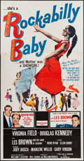 "Movie Posters:Rock and Roll, Rockabilly Baby (20th Century Fox, 1957). Three Sheet (41"" X 79"").Rock and Roll.. ..."