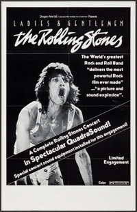 "Ladies and Gentlemen: The Rolling Stones (Dragon Aire, 1973). Poster (24.5"" X 38"") QuadraSound Style. Rock and..."