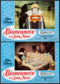 """Movie Posters:Animation, Snow White and the Seven Dwarfs (United International Pictures,R-1987). Italian Photobusta Set of 8 (18"""" X 26""""). Animation....(Total: 8 Items)"""
