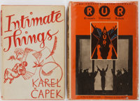 Karel Capek. Two Science Fiction Classics. Intimate Things is a first American edition; R. U. R. (Rossu