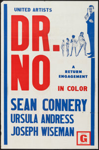 """Dr. No (United Artists, R-1970s). Independently Produced One Sheet (27"""" X 41""""). James Bond"""