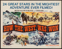 "How the West was Won (MGM, 1964). Half Sheet (22"" X 28"") Style A. Western"