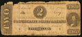 Confederate Notes:1862 Issues, T54 $2 1862 PF-2 Cr. 393.. ...