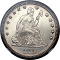 Seated Quarters, 1876-CC 25C MS65 NGC....