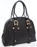 Luxury Accessories:Bags, Bally Black Leather Bowling Bag with Gold Hardware. ...