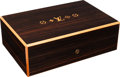Luxury Accessories:Accessories, Louis Vuitton Inlaid Monogram Precision 70 Cigar Humidor by Credo....