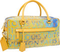 Luxury Accessories:Bags, Louis Vuitton 2008 Limited Edition by Richard Prince Jaune DefilePulp Weekender PM Bag. ...