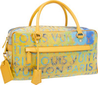 Louis Vuitton 2008 Limited Edition by Richard Prince Jaune Defile Pulp Weekender PM Bag