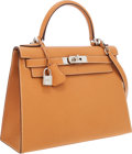 Luxury Accessories:Bags, Hermes 28cm Natural Vache Liegee Sellier Kelly Bag with PalladiumHardware. ...