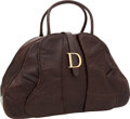 Luxury Accessories:Bags, Christian Dior Brown Ostrich Double Saddle Large Bowling Bag. ...