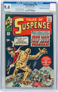 Silver Age (1956-1969):Superhero, Tales of Suspense #44 Don/Maggie Thompson Collection pedigree(Marvel, 1963) CGC NM 9.4 Off-white to white pages....