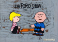 Animation Art:Production Cel, The Ford Show Schroeder and Charlie Brown Peanuts Opening Sequence Production Cel Set-Up (Bill Melendez/Playhouse Pict... (Total: 2 Items)