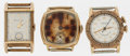 Timepieces:Wristwatch, A Lot Of Three Gent's Wristwatches For Parts Or Repair. ... (Total:3 Items)