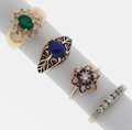 Estate Jewelry:Rings, Diamond, White Gold Ring. ... (Total: 4 Items)
