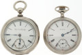 Timepieces:Pocket (post 1900), Two 18 Size Elgin Pocket Watches. ... (Total: 2 Items)