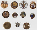 Timepieces:Other , A Lot Of Eleven Miscellaneous Buttons. ... (Total: 11 Items)